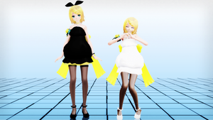 Tda Rin Bloom [DL] Kagamine's Birthday gift by Ichigo-Crown