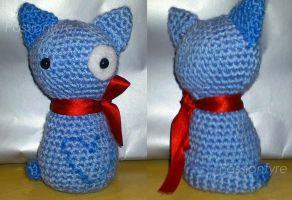 Amigurumi Blue Kitty by passionfyre