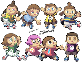 A Bunch of Villagers by SmashToons