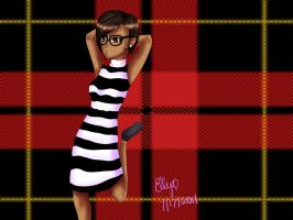 Stripes with Nerd glasses by ellygonwild