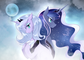 Luna and Luna by yuki-zakuro