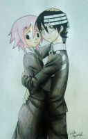 Death The Kid and Crona by Killjoy-Chidori