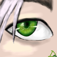 Glowing Green Eyes by deaderrose