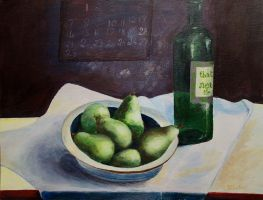 Pears and wine by fab38