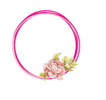 [RESOURCE] Pink Flower Circle PNG by ektamisra