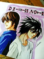 L and Light-Death note by Anan-MaQsoud