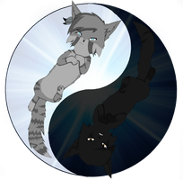 Jayfeather Breezepelt Ying and Yang by TaigaFrost