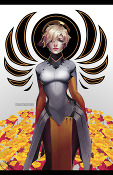 Overwatch: Your Guardian Angel - Mercy by Dragons-Roar