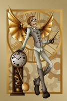 Copper Wings and Clockwork Magic by HosekiDragon