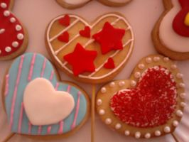 heart shaped coockies by aS-tOld-bY-IvOnNe