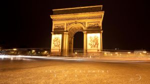 Arc de Triomphe at Night by Linkineos