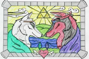 Wolf Stain Glass by DrMario64