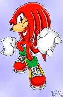 Knuckles the Echidna by Mariko-The-Strange