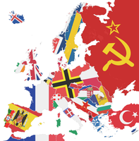 Political map of Europe 1945 by Sevgart