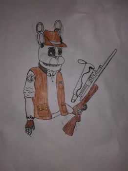 Bonnie As Sniper (From FNAF and TF2) (WIP) by goldendragon22