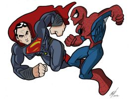 Superman Vs Spiderman by Kryptoniano