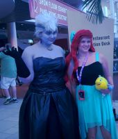 Ursula and Ariel by bloody-magpies