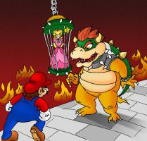 Mario and Bowser by crockalley