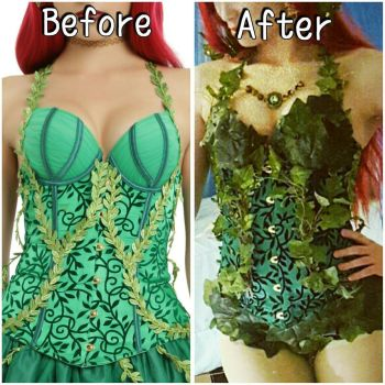 poison ivy cosplay corset  by mayumi-loves-sora