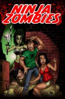 Ninja Zombies by Maus by billmausart