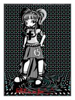 gothic person with screentones by SoraPyper