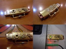 Steampunk USB drive by Dunkeljorm