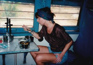 Me on a train in India by bindii
