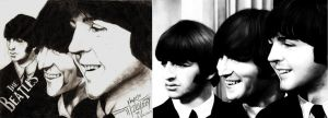 Ringo John  paul and no george by havocPigeons