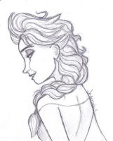 I Tried--Elsa Sketch by JasminSC