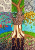 Patchwork Tree by Madelei