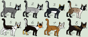 Draw to adoptables 2 (OPEN TO ALL) by JocastaTheWeird