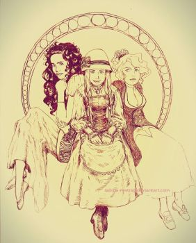 The Hatter's daughters by sabina-m-streg