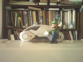 Luigi's Light Cycle by Chentzilla