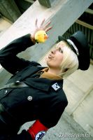 Prussia with a chick by dannsegoshi