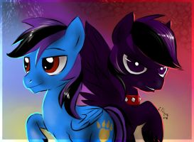 Pony commission - Phil and Shadowphil by FuriarossaAndMimma