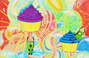 Gir and Cupcakes by sitres