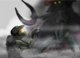 Master Chief vs. the Jailor by jameson9101322
