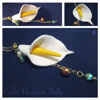 Calla Necklace Nelly by Arahiriel