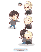Chibi Drarry  Miss you by Cremebunny