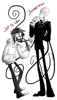 Jeff the killer and Slenderman by BlasticHeart
