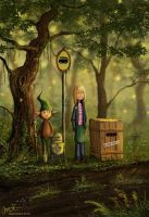 The Forest Bus Stop by jerry8448