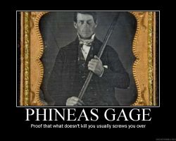 Phineas Gage by deathstrikesquirrel