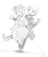 Mickey and Minne Mouse gijinka by diabolico0anghel