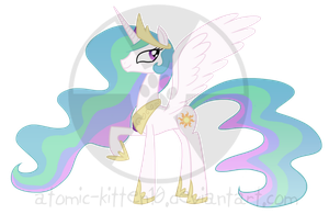 MLP: Princess Celestia by atomic-kitten10
