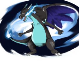 MEGA CHARIZARD X by Windwolf667
