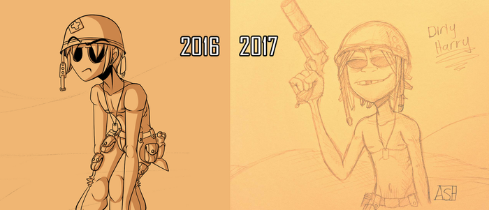 Dirty Harry Art Comparison by Ashesfordayz