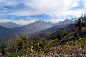 Beautiful high mountains outside Santiago by rbompro1
