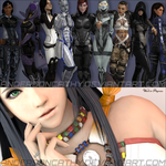 WIPs (Mass Effect and Final Fantasy) by andersoncathy