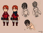 Attack On Titan Tribute Game sketches by LanAuren