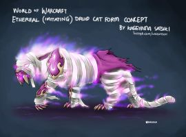WoW Etheral Druid Cat Form Concept by kagesatsuki